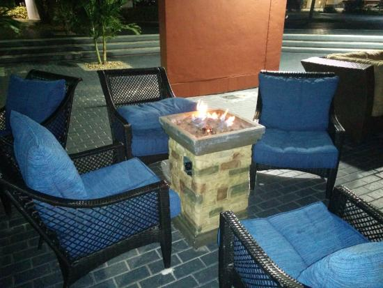 lounge area with fire behind the hotel very nice place to chill out rh tripadvisor com sg