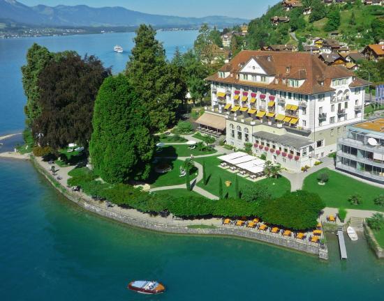 Gunten, İsviçre: Hotel park