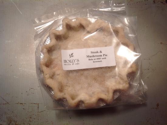 Barrie, Canada: Steak & Mushroom Pie, take home frozen meal