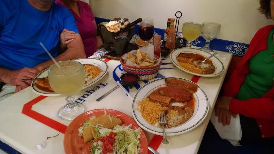 North Port, FL: Our main dishes at Blue Tequilla