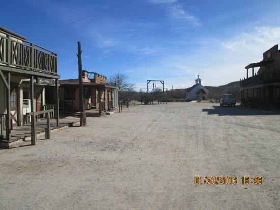 Benson, AZ: This is a shot of the movie town Jay himself built.