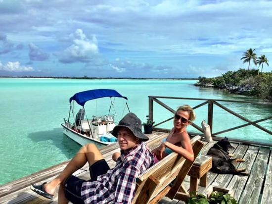 George Town, Great Exuma: sitting on the dock watching the tide roll away