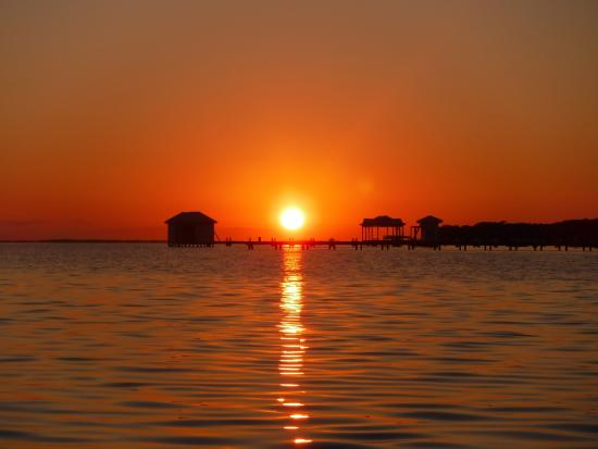 St. George's Caye, เบลีซ: Sunset from one of the kayaks