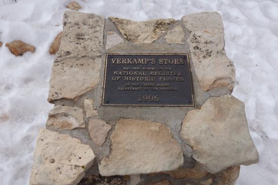 Verkamp's Curios: Verkamp's - National Historic Landmark marker