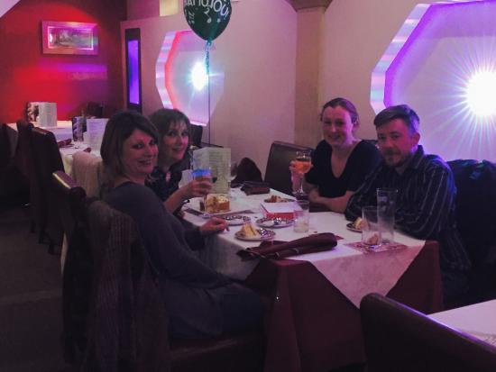 Market Drayton, UK: Mandy Celebrating Birthday Party at Oruna