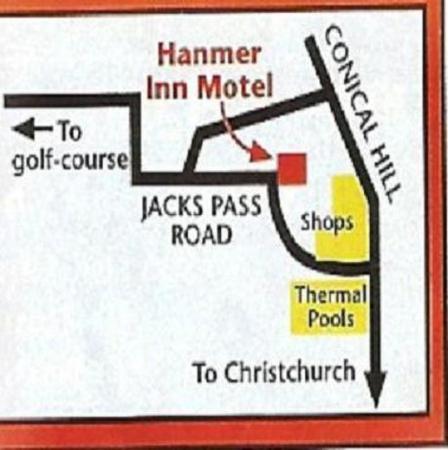 Hanmer Springs, Yeni Zelanda: Location Map