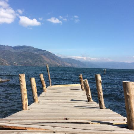 Lake Atitlan, Guatemala: View from the dock at San Juan