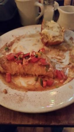 "Naperville, IL: Messy but ""Drop the Microphone"" good Voodoo Chicken Enchilada"