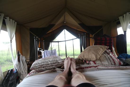 Kimondo C& Asilia Africa Tent with real bed & Tent with real bed - Picture of Kimondo Camp Asilia Africa ...