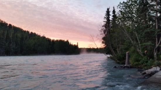 Soldotna, AK: Nearby River launch point looking upstream