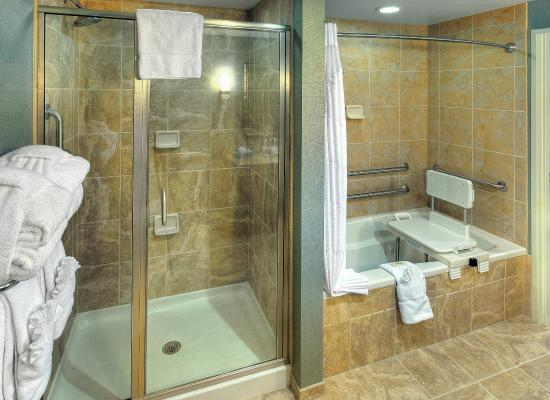 Holiday Inn Express Hotel & Suites Mt Pleasant-Charleston: Luxurious guest suite bathroom.