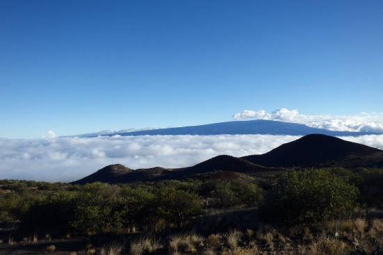 Mauna Kea Summit: Driving above the clouds towards the peak.