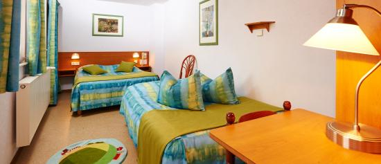 Hotel de l'Ill : une chambre familiale avec baignoire