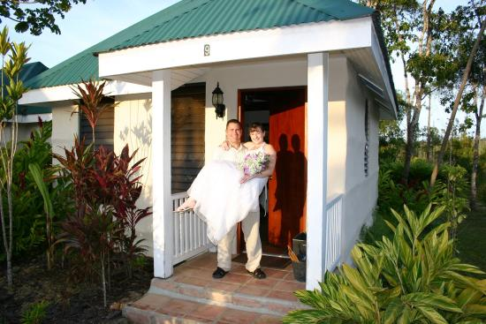 Hidden Valley Inn: Room exterior/Just Married
