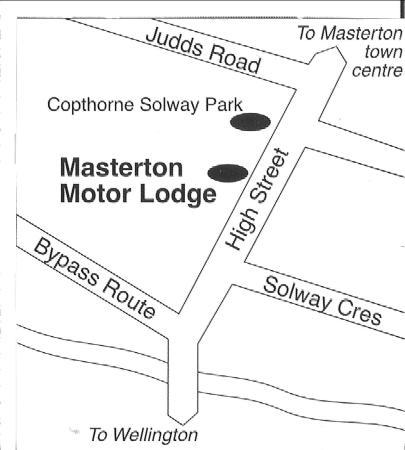 Masterton, نيوزيلندا: Map