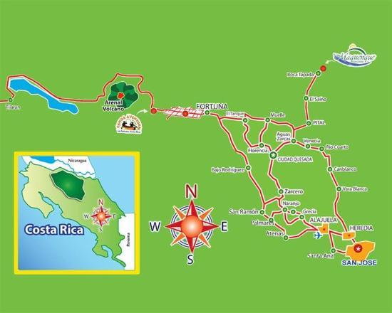 Boca Tapada, Costa Rica: Map