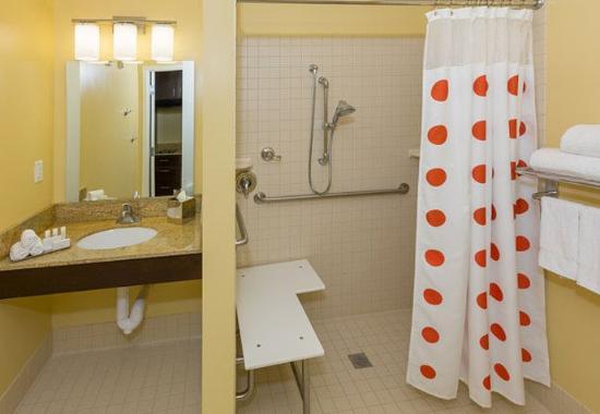 Cheektowaga, نيويورك: Accessible Suite Bathroom with Shower