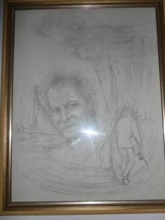 Les Amis de Georges Brassens : unique tableau de georges realisé fusain