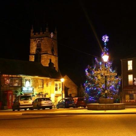 Kings Arms in St Just at Christmas time
