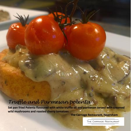 Faversham, UK: Truffle and parmesan polenta