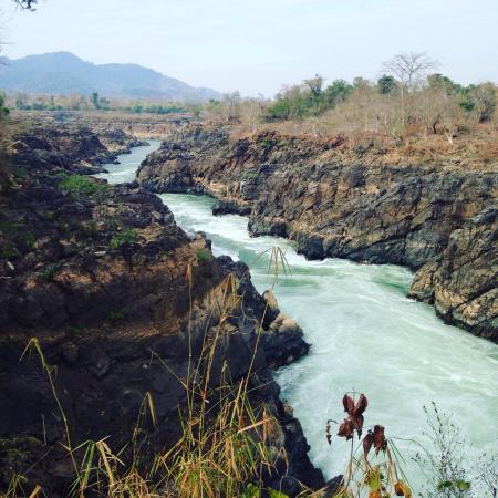 Champasak, Laos: Chutes de Li Phi