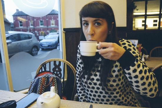 Brecon, UK: Enjoying a pot of tea