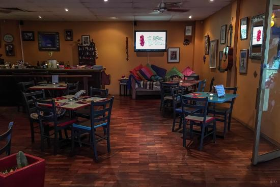 Terrigal, ออสเตรเลีย: Inside the Supermex restaurant late afternoon - before the dinner crowd