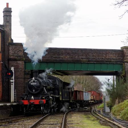Loughborough, UK: Demonstration goods train