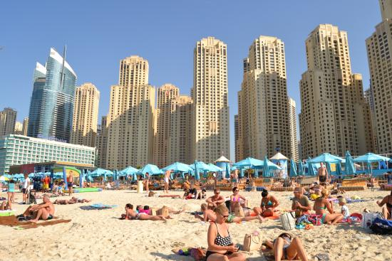Crowd But Still Nice Picture Of Marina Beach Dubai Tripadvisor