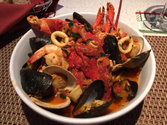 Ossining, นิวยอร์ก: New dish - seafood with pasta