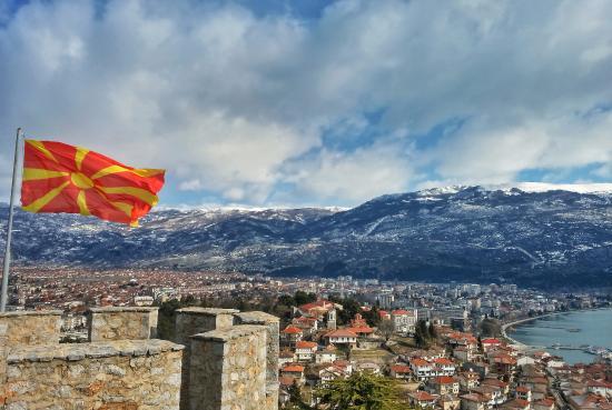 Lake Ohrid: Охрид с замка