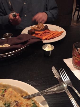 2520 Tavern : Toasty tavern, lobster nachos, Caesar salad, seafood with cheese, prime rib with sweet potato fr