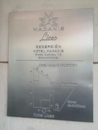 L'Hospitalet de Llobregat, Hiszpania: схема прохода на ресепшн