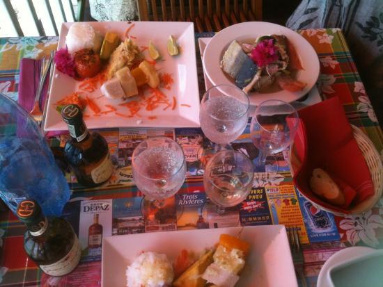 Les Anses d'Arlet, Мартиника: Notre dejeuner, plat local