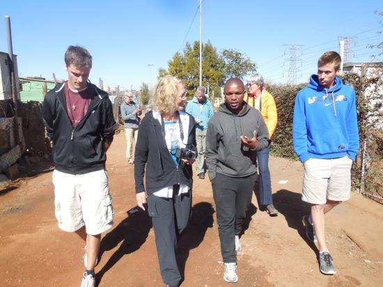 Soweto, Sudafrica: tour of informal settlement