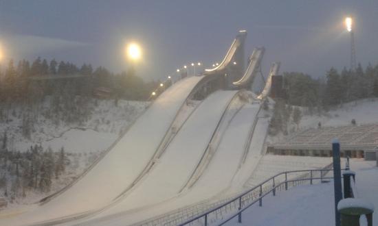Lahti, Finland: go to the ski jump track