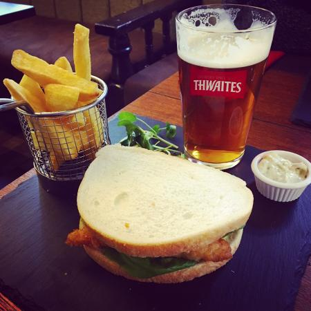 Blackburn, UK: Fish finger sandwich and a pint? ... Don't mind if I do!