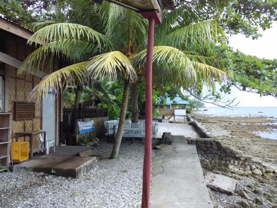 Jagna, Filippinerna: The back of the resort facing the beach
