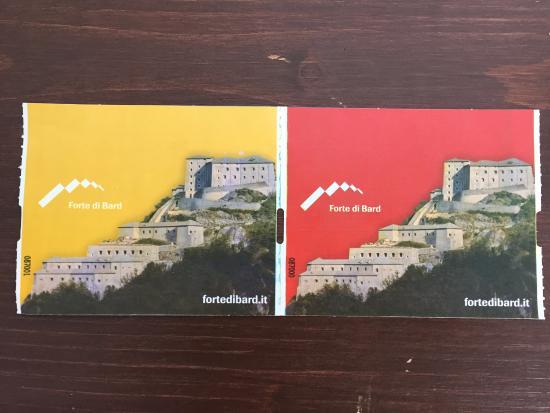 Bard, Italia: Biglietto ingresso
