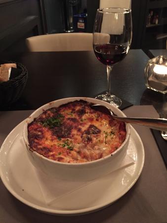 Retie, België: The homemade lasagne.