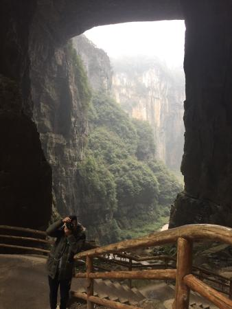 Wulong Tiankeng Three Bridges: Awesome place ! I was left speechless. Wear good hiking boots as there are a lot of steps. Also