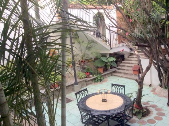 Hotel Las Mariposas : The patio outside my room.