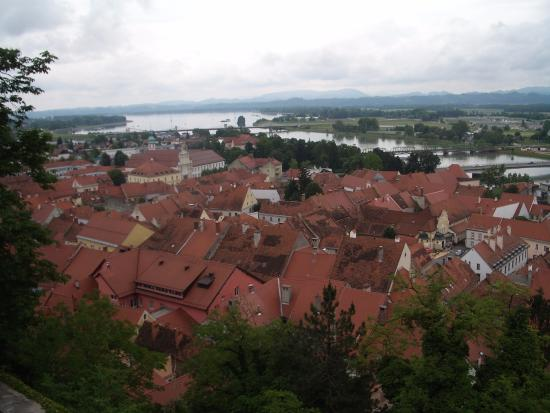 Ptuj, Slovenia: The view from the castle