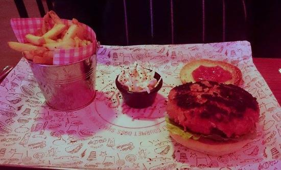 Livingston, UK: Pork and Choritzo burger