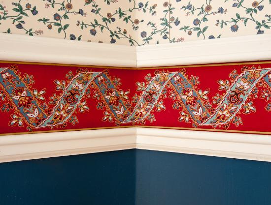 Macomb, IL: interior wallpaper detail Bailey House