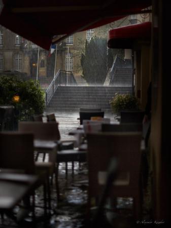 Brasserie Reine Mathilde : ливень