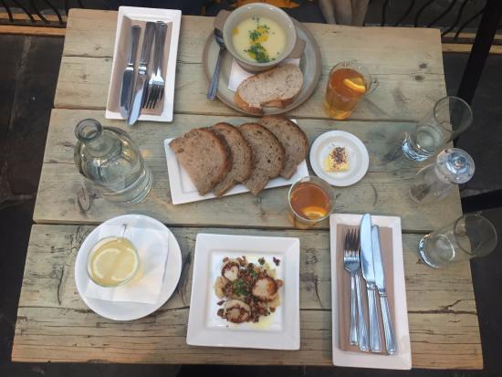 Edinburgh Larder Bistro: Two starters from Christmas lunch menu