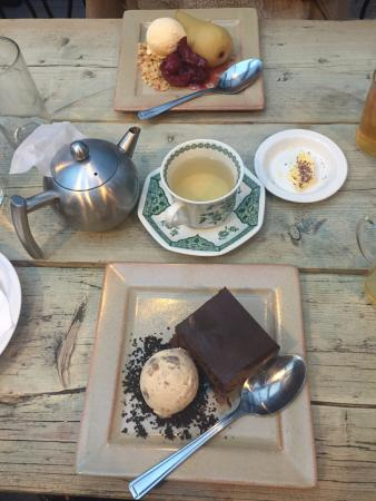 Edinburgh Larder Bistro: desserts from the Christmas menu