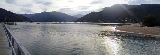 Anakiwa, Selandia Baru: View from the pier