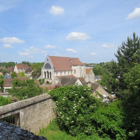 Chartres Historic Preservation Area: Collégiale Saint-André vu des Jardins de l'Évêché